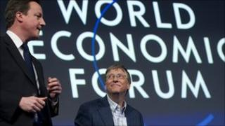 David Cameron and Bill Gates