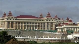 Parliament building in Naypyitaw