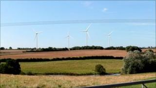 Artist's impression of the turbines