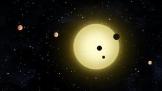 Artist's conception of Kepler-11 system (Nasa/T Pyle)