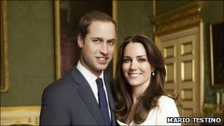 Mario Testino's official engagement photograph of Prince William and Kate Middleton