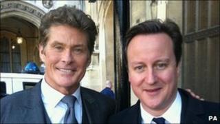 David Hasselhoff and David Cameron