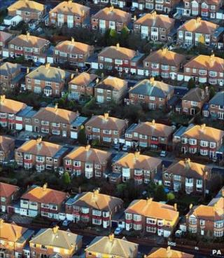 Aerial view of homes (Image: PA)