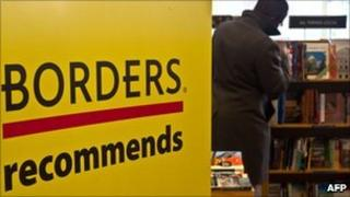 Shoppers in Borders