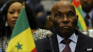 Senegal's President Abdoulaye Wade (file photo)