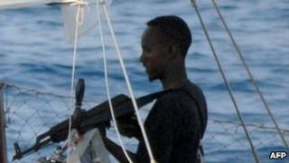 An armed Somali pirate (archive image)