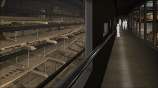 The Mary Rose viewing walkway
