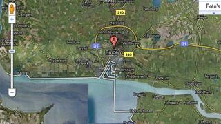 Emden as shown on Google Maps - grab
