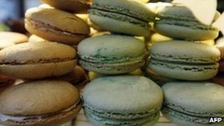 Macaroons in a Parisian bakery (generic image)