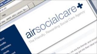 Air Socialcare website