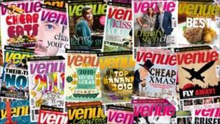 Copies of Venue magazine