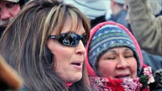Sarah Palin at the Iron Dog race