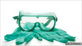 Protective goggles and gloves