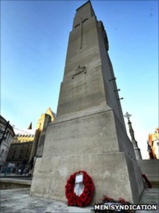 Manchester war memorial courtesy of MEN Syndication
