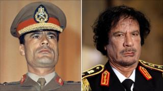Col Gaddafi, 1969 and 2008