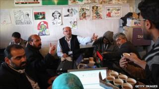 Members of the Interim Transitional National Council in Benghazi, Libya