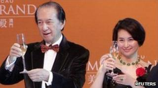 Stanley Ho and his daughter Pansy Ho