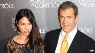 Mel Gibson and his ex-girlfriend Oksana Grigorieva