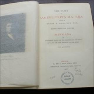 the 1928 volume of Samuel Pepys' Diary