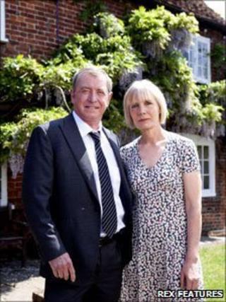 Former cast member John Nettles and Jane Wymark in Midsomer Murders