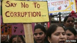 Anti-corruption protest in Jammu in February 2011