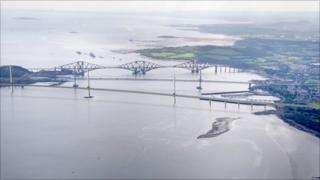 Artist's impression of the Forth Replacement Crossing