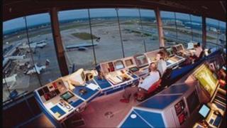 Manchester Airport air traffic control