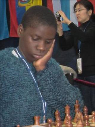 Phiona Mutesi at the Chess Olympiad in Russia (picture courtesy of Robert Katende)