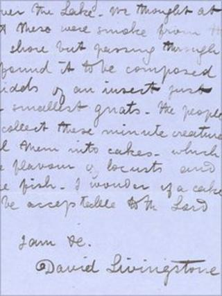 Letter with David Livingstone's signature