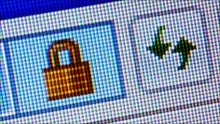 Secure connection padlock icon
