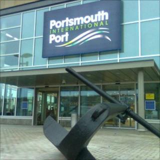 Portsmouth International Port's new terminal building