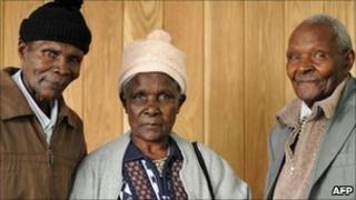 Left to right: Ndiku Mutua, Jane Muthoni Mara and Wambugu Wa Nyingi, three of the four claimants