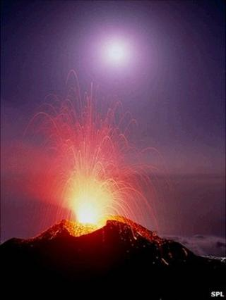Eruption of Stromboli
