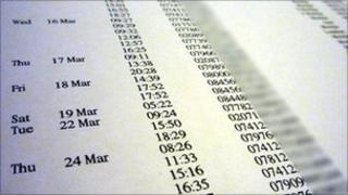 Mobile phone bill