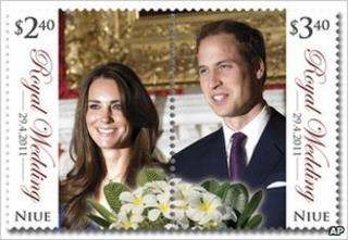 Stamp issued by New Zealand Post to commemorate the royal wedding