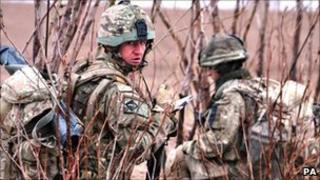Troops from the 1st Battalion The Royal Irish Regiment in Afghanistan