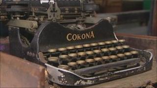 Typewriter sold at auction