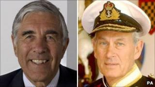Lord Phillips of Worth Matravers (l) and Admiral Lord Boyce