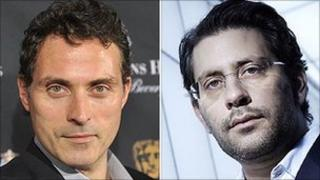 Zen star Rufus Sewell and BBC One controller Danny Cohen