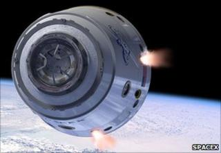 Dragon capsule artist impression