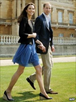 The Duke and Duchess of Cambridge at Buckingham Palace