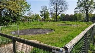 Site of the proposed skate park at Beau Sejour