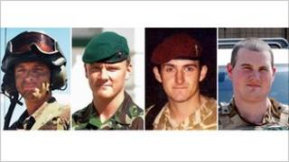Cpl Stephen Allbutt, Pte Phillip Hewett, Pte Lee Ellis and Lance Cpl Kirk Redpath (left to right)