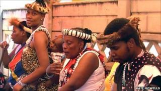 Sangoma at an initiation ceremony
