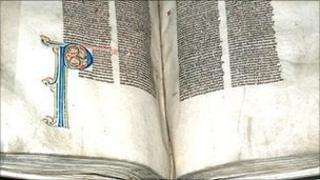 13th Century vellum manuscript