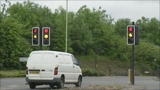 Traffic lights in Swindon