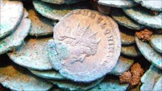 One of the Roman coins found in Colchester
