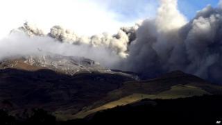 Galeras volcano in Colombia
