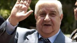 File image: Syria Foreign Minister Walid Muallem in 2006