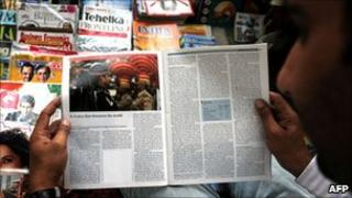 Indian reads censored version of Economist magazine